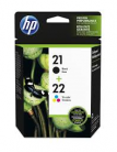 HP #21 & #22 Black & Colour Combo Ink Cartridge